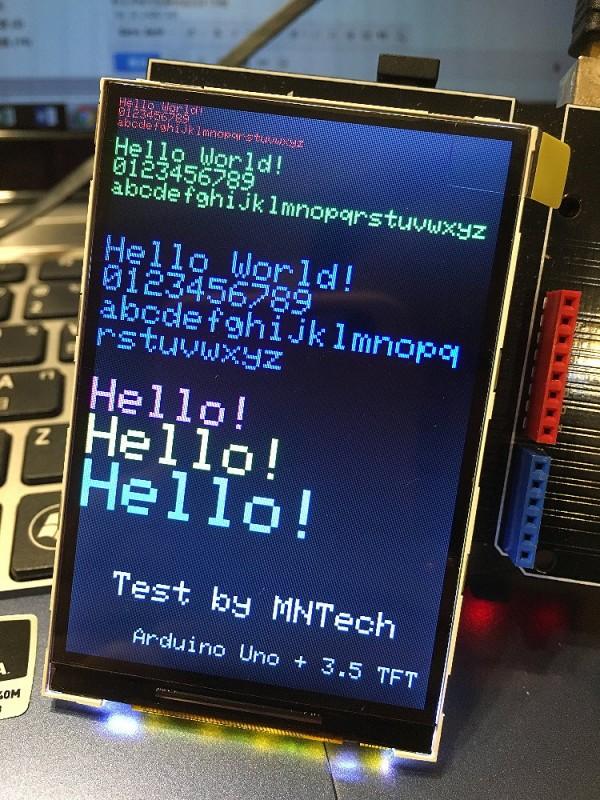 3.5吋 LCD模組 ( 可直上Arduino ) LCM_2p2inch_ILI9481