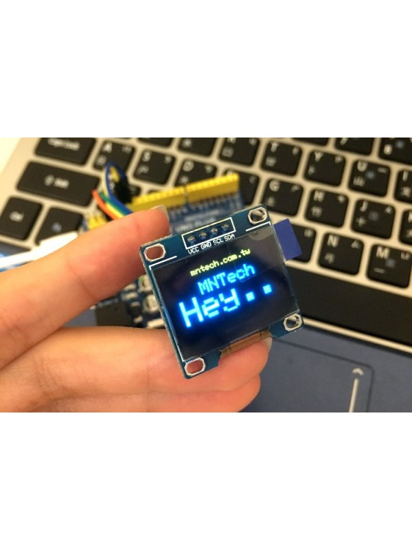 0.96 吋 OLED模組 ( 黃藍色 / 12864 / IIC ) OLED_0p96_YBIIC