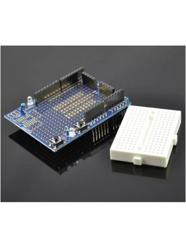 Arduino 擴充麵包板 ( proto shield ) Prototype Shield v5